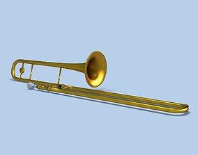 Trombone jazz 3D