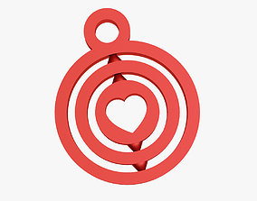 Heart symbol keychain 3D printable model