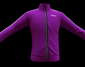 3D model realtime adidas jacket