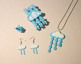 3D printable model Little Drops of Heaven Jewelry Set