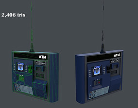 ATM machine 3D asset