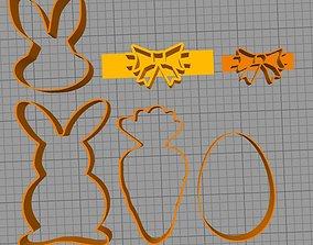 corta galletas conejo de pascua 3D printable model