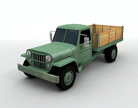 3D model Antique Jeep Pickup Truck