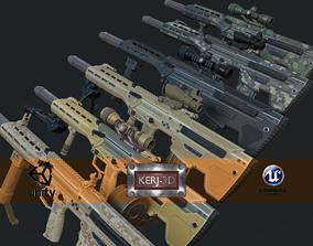 3D asset Modular Bullpup Rifle-Sniper Variant