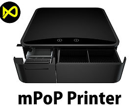 mPOP Receipt Printer and Cash Drawer 3D
