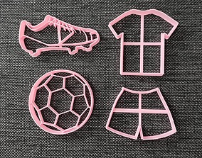3D printable model Futbol pack - Cookie Cutters