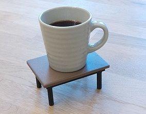 3D-printable coffee table coaster