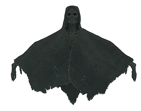 Low Poly Shrouded Specter Rigged Character With 3D model 1