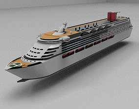 3D model game-ready Cruise Ship