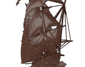 3D print model Sailer ship bas relief for CNC sea