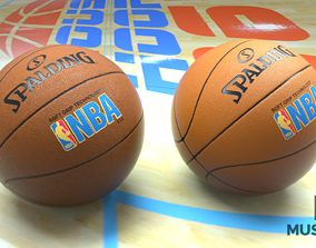 Basketball league 3D asset game-ready