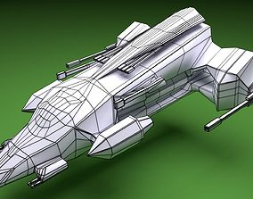 3D model Low Poly Spaceship - Endeavour