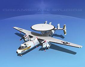 3D model Grumman E-2C Hawkeye V11