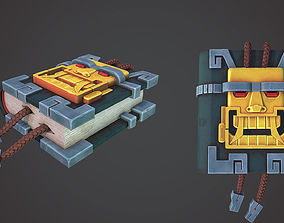 Tiki Book hand-paited style 3D asset