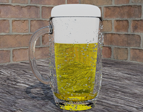 3D model A glass of Beer