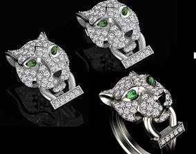 earrings ring female 3D printable model silver