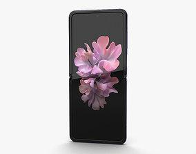 Samsung Galaxy Z Flip Mirror Purple 3D