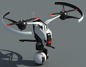Dual-axis Drone UAV Aircraft science 3D model