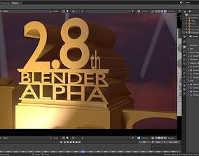 3D model 20th century Fox Blender 28 template