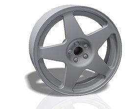5 spokes rim - llanta 3D printable model