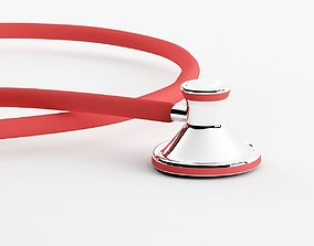 Stethoscope low poly 3d model game-ready