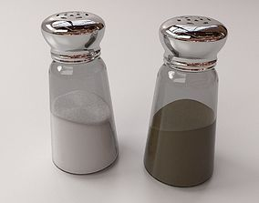 Salt and Pepper Bottle 3D model