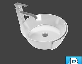 Sink and faucet sink 3D