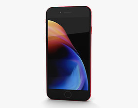 3D Apple iPhone 8 Red