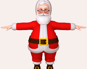 character Santa Claus Cartoon 3D