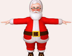 character Santa Claus Cartoon 3D