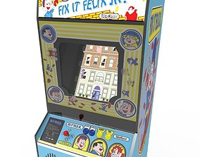 3D asset wreck it ralph arcade cabinet