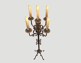 Candlestand 3D model PBR