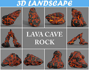 3D model Low poly Lava Rock Pack A-190427