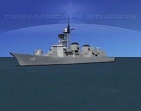 3D model Takanami Class Destroyer DD-110