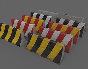 3D model obstacle PBR Concrete Barrier V1