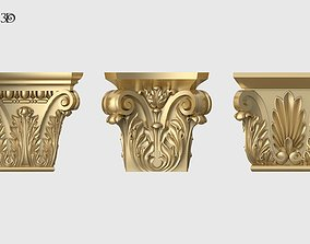 3D Square Capitals Set