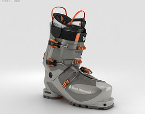 Black Diamond Prime Ski Boot 3D model