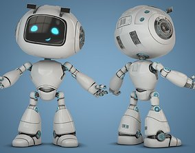 Cartoon Robot Rigged 3D