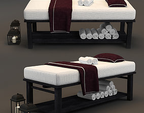 Spa Bed Massage Table 3 3D