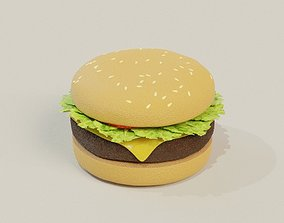 3D model Realistic Burger