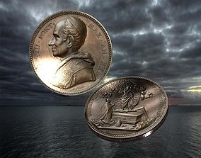 3D asset Vatican medal 5