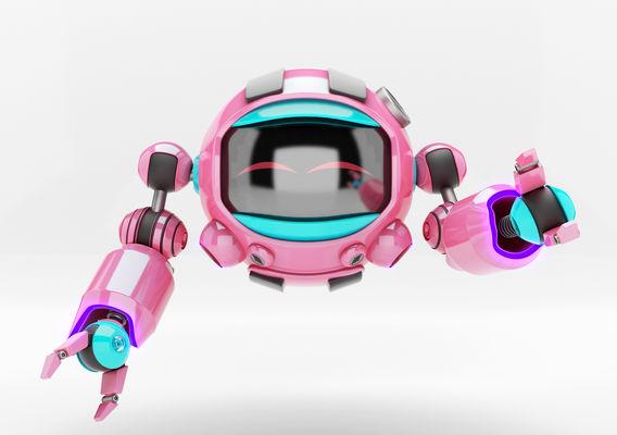 Fun pink robot