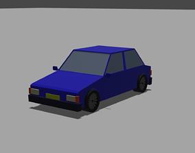 Lowpoly Simple Car 3D model