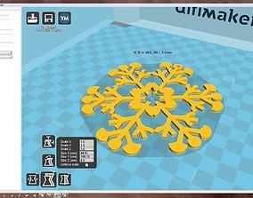 ornament accessory 3D printable model Snowflake