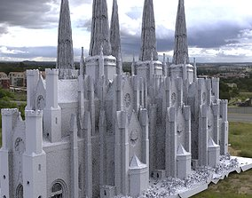 Victorian architecture 3 tiered Cathedral 3D