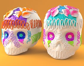 Mexican SugarSkull confectionery 3D