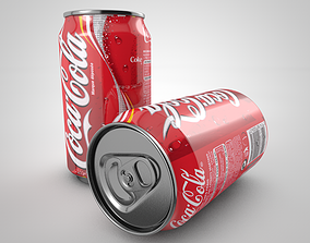 3D asset animated Coca cola can