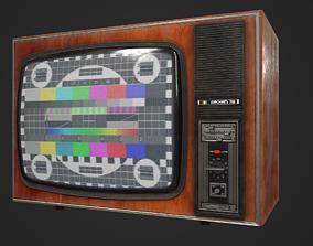 Soviet television Raskat PBR 3D asset