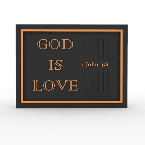God Is Love Desk Photoframe