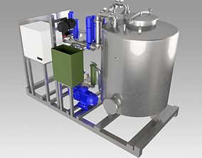 Industrial clean in place washing CIP 3D model